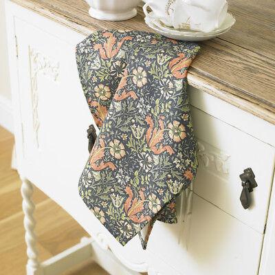 Sous licence William Morris strawberry thief torchon en coton floral