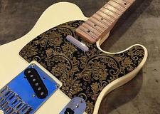 Black Floral Paisley Bakelite Pickguard fits Fender® Stratocaster® Strat® HSS