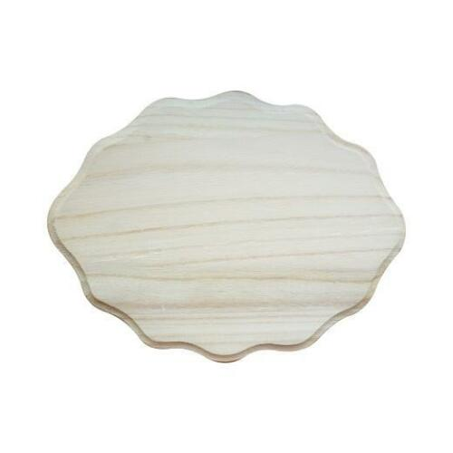 Bare Wood Nameplate Scallop Small #8174