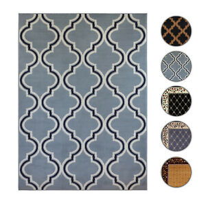 Image Is Loading Trellis Moroccan Tile Area Rug Or Fl Lattice