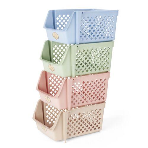Titan Mall Storage Bins Plastic Stackable Storage Bins for Food Fruits Files,
