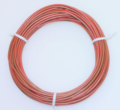 KFZ LKW Kabel Litze Leitung Fahrzeugkabel Stromkabel FLRy 1,5mm² 10m braun rot
