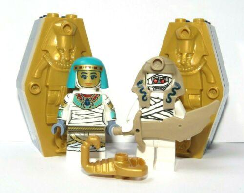 Lego 2 Pharaoh Sarcophagus Coffin Tomb Egyptian Mummy Queen /& King Minifigure