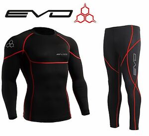 Evo-Active-Mens-Compression-Base-Layer-Armour-Top-Skin-Leggings-S-M-L-XL-XXL