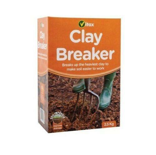 Vitax 2.5Kg Clay Breaker Gardening Soil Treatment Breaking Cropping Cutter