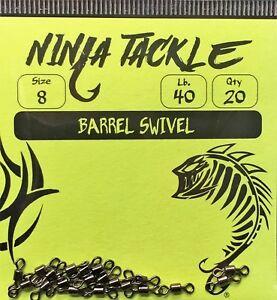 Haute Qualité Laiton Tonneau Pivotant Fraîches, Saltwater Fishing Black Nickel Revêtement!-afficher Le Titre D'origine