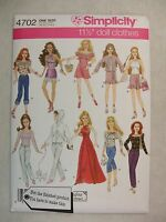 Fashion Doll Clothes Sewing Pattern Simplicity 4702 See Full Listing Info