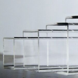 Select 10 - 170mm Square Clear Acrylic Plexiglass Lucite Plastic Tube 200-500mm