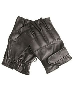 Sinnvoll Mil-tec Handschuhe Defender Ohne Finger Lederhandschuhe Security Schwarz S-xxl