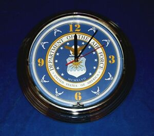 U-S-Air-Force-Blue-Neon-Clock-8-Designs-with-Personalized-Option