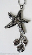 j STAR FISH starfish sand dollar shell Car Charm Rear View Mirror Ornament Ganz
