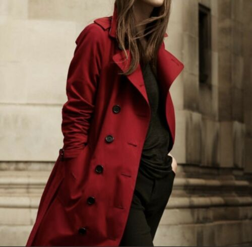 MINT USD1,300 Burberry Military Red Trench Coat US