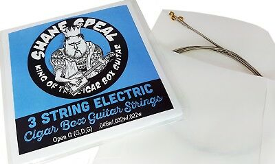 Low//Mid//Mid Cigar Box Guitar String Set Acoustic Light 3-string Open GDG