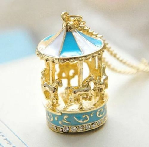 Carousel Horse Merry Go Round Carnival Pendant Necklace /& Gift Bag