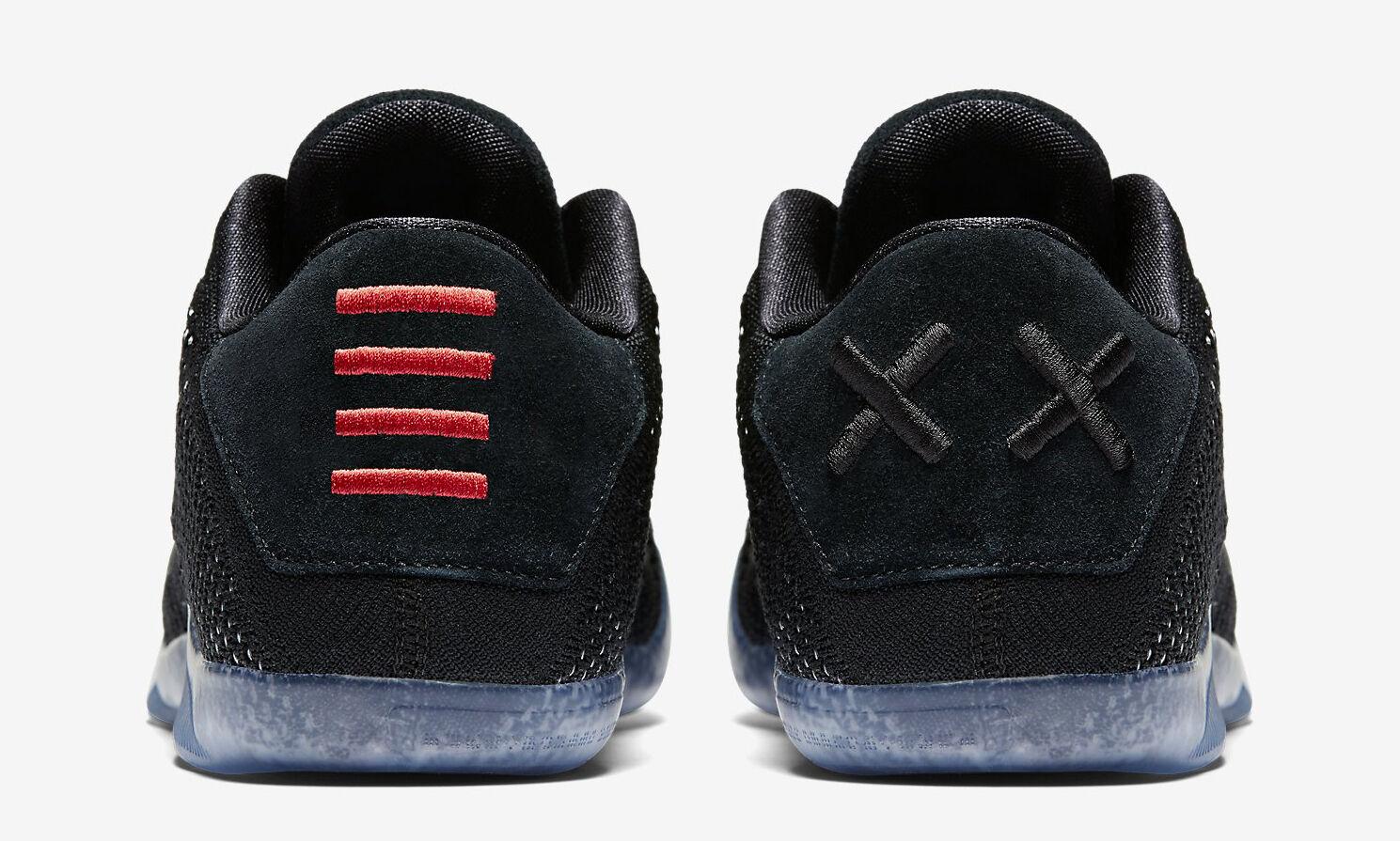 Nike männer kobe xi elite niedrige schwarze schwarze schwarze größe 7 neue e856b6