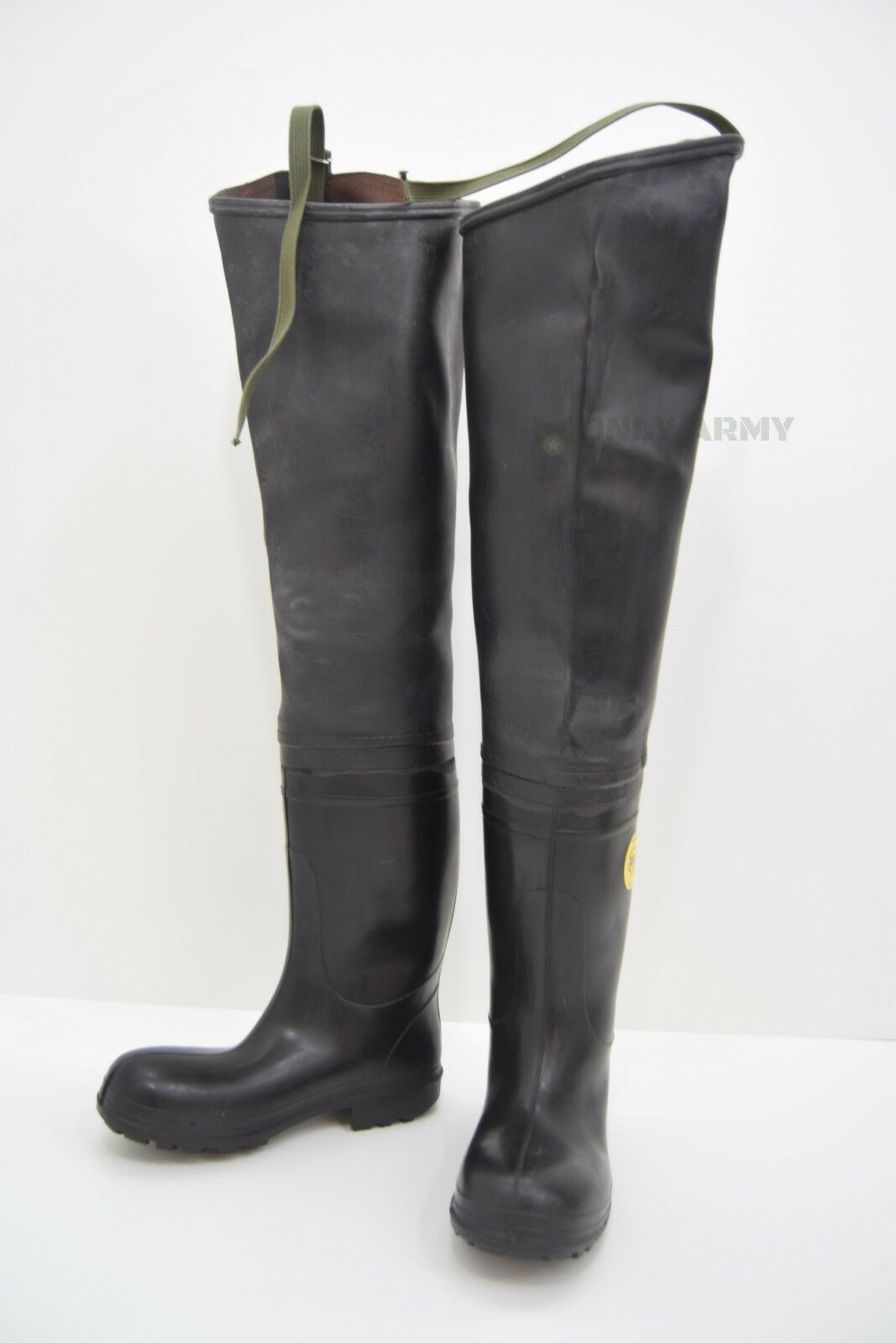Original BEKINA Thigh Wader Boots Waders Wellingtons Heavy Duty Military Issue