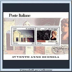 2000-Italia-Repubblica-Foglietto-Avvento-Anno-Duemila-Arte-Scienza-n-25