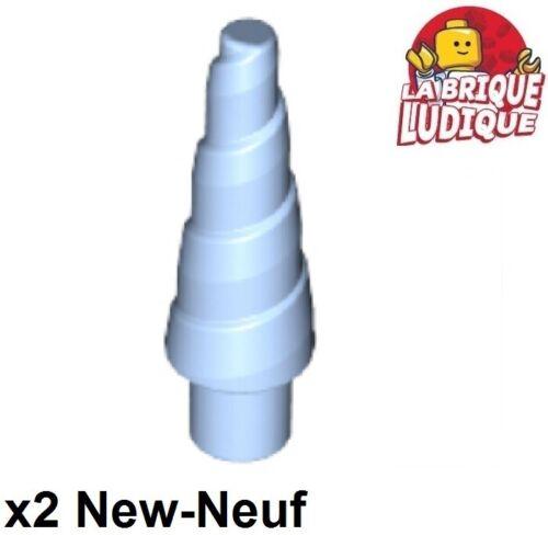Lego 2x Corne unicorn horn licorne bleu clair//bright light blue 89522 NEUF