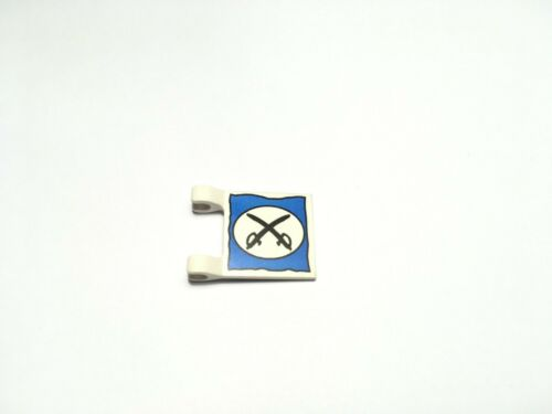 LEGO 2335px4 White Flag 2 x 2 Square with Oval Two Crossed Cutlasses Pattern