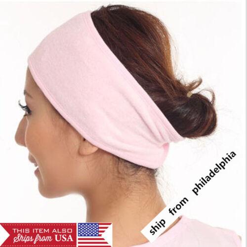 Femme Réglable Élastique Bandeau Lavage De Visage Maquillage Spa stretch doux cheveux bande