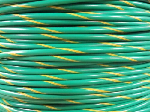 MTW 8 GAUGE AWG GREEN//YELLOW STRIPE 19 STRANDS COPPER GROUND WIRE 20/' FT USA