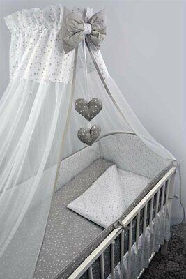Bettset Baby 8-9 Tlg Bettwäsche Nestchen 120x60 Sterne Hohe Sicherheit
