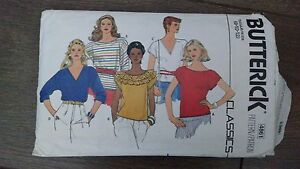 Vintage-Butterick-Classics-Misses-039-5-Tops-Sewing-Pattern-Sizes-8-10-4861