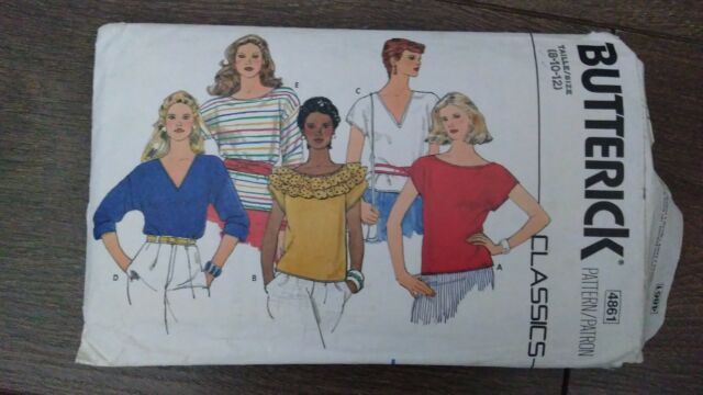 Vintage Butterick Classics Misses' 5 Tops Sewing Pattern Sizes 8-10 #4861