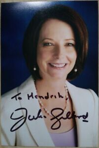 Julia Gillard PM AUSTRALIEN Autogramm original signiert 15x10cm