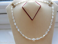 Hallmarked Sterling Silver Moonstone Chain Necklace From Sri Lanka (e5/13) (new)