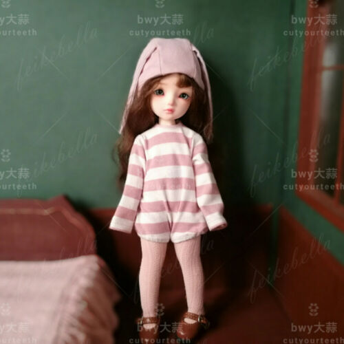 1//6 BJD Doll Little Baby Boy Girl Resin Ball Jointed Doll Eyes Face Make up
