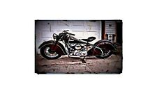 1974 Indian Chief Bike Motorcycle A4 Retro Metal Sign Aluminium