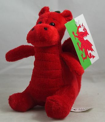 New Souvenir Superb Quality Welsh Wales Supporter Plush Teddy Dragon Soft Toy