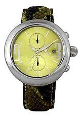 New Croton Crotalus Green Dial Python Snake Skin Chronograph Watch $399 Retail