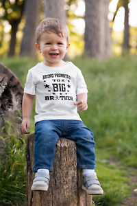 Being Promoted To Big Brother Kid/'s Printed T-Shirt New Baby Pregnancy 1204