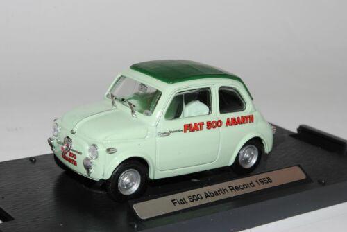 Fiat 500 Nuova Abarth record 1958 verde 1//43 Vroom oferta especial modelo auto con