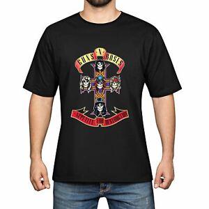Guns-N-039-Roses-Men-039-s-Cotton-Funny-Cool-T-shirts-Short-Sleeve-Tops-Tee