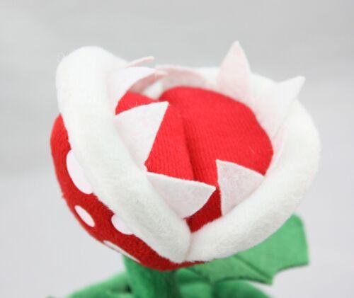 Super Mario Bros Piranha Plant Plush Doll Flower Figure Stuffed Toy 9 inch Gift