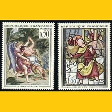 2 TIMBRES POSTE FRANCE 1963 - OEUVRES D'ART - N° 1376/1377 - NEUFS **