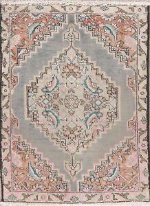 Geometric-Traditional-Hand-Knotted-Wool-Area-Rug-Oriental-2-x-3-Medallion-Carpet
