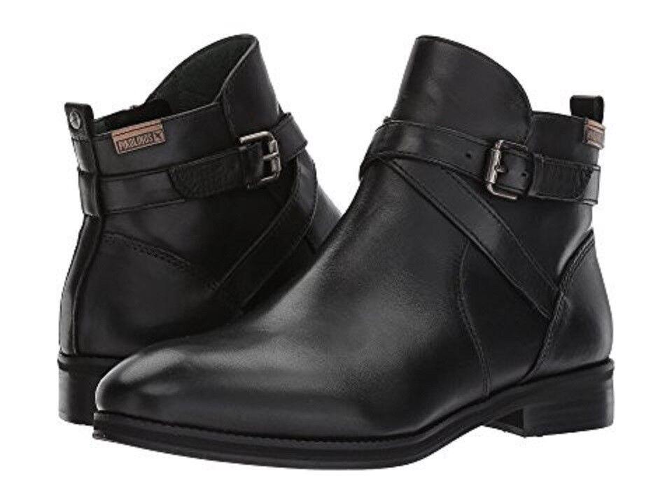 Pikolinos Royal W5M-8614 Women's Short Boots Black Leather SIze US 10.5 (EU 41)