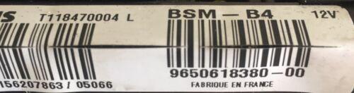 BSM B4 PEUGEOT CITROEN 206 C2 C3 1007 SIEMENS 9650618380 T118470004 L