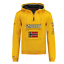 Felpa-GEOGRAPHICAL-NORWAY-GymClass-Uomo-Men-tascone-half-Zip-Anapurna-cappuccio miniatura 3