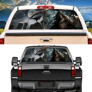 Grim-Reaper-crow-cemetery-Rear-Window-Graphic-Decal-Graphic-Decal-for-Pickup
