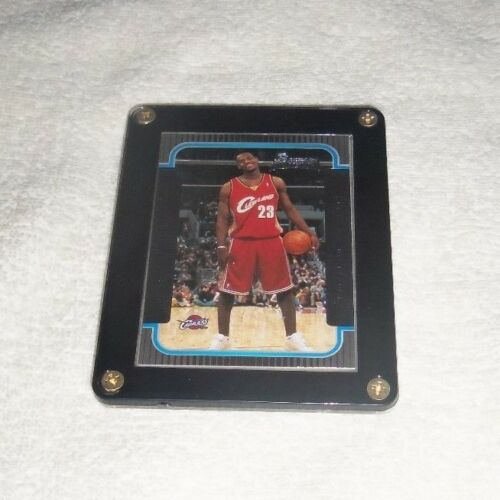 NBA Lebron James Cleveland Cavaliers Bowman Rookie Card Rare In Holder