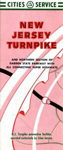 Details about 1958 Cities Service Road Map: New Jersey Turnpike NOS