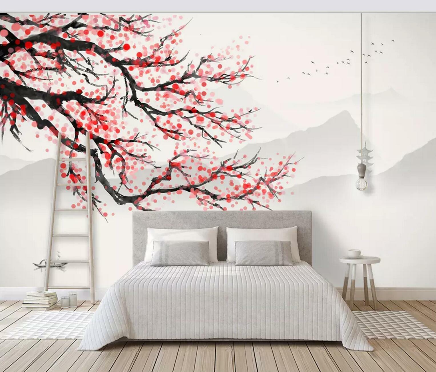 3D ROT Scape grau 783 Wall Paper Exclusive MXY Wallpaper Mural Decal Indoor Wall