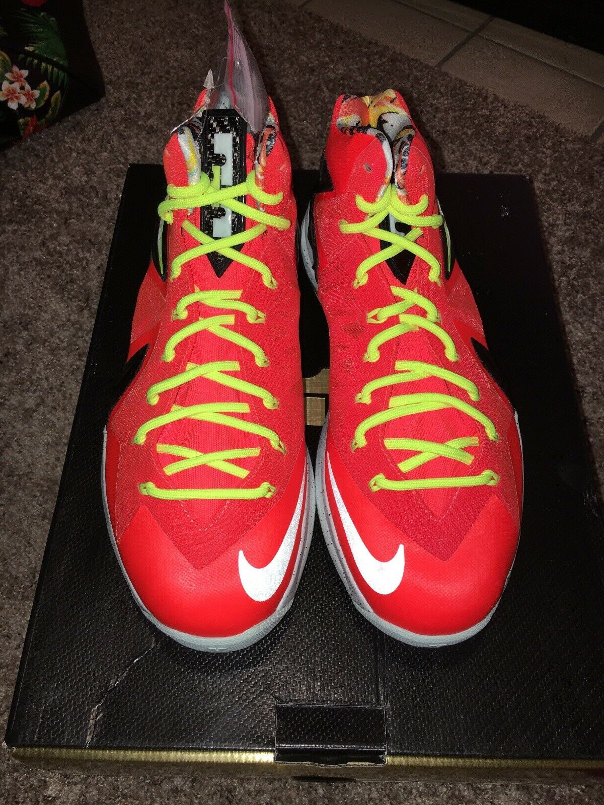 best website 348c7 17b75 Nike Lebron James James James X Ten P.S. Elite Size 9.5 Total Crimson 260  933f76. Nike Air Jordan 1 ...