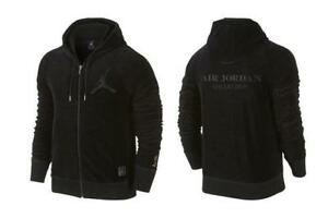 98fc9d5f9527ca Jordan OVO Velour Zip up Hoodie Size L 826734-010 Rare Drake ...