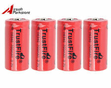 4pcs High Drain TrustFire IMR16340 700mAh 3.7V Rechargeable Li-ion Battery Red